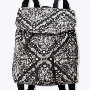 Victorias Secret Pink Backpack Paisley Black white